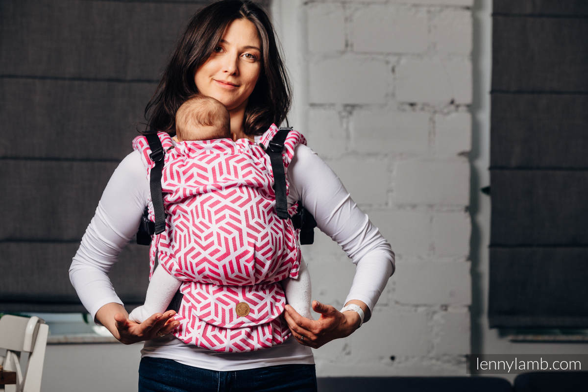 Mochila LennyUpGrade, talla estándar, tejido jaquard 100% algodón - BASIC LINE TOURMALINE #babywearing