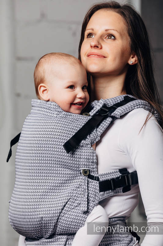 LennyUpGrade Carrier, Standard Size, tessera weave 100% cotton - BASIC LINE SELENITE #babywearing