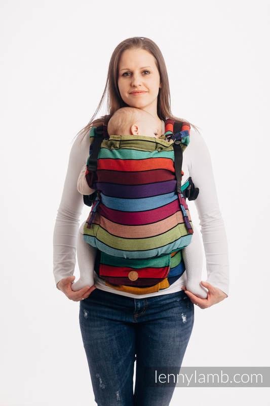 Mochila LennyUpGrade, talla estándar, sarga cruzada 100% algodón - CAROUSEL OF COLORS #babywearing