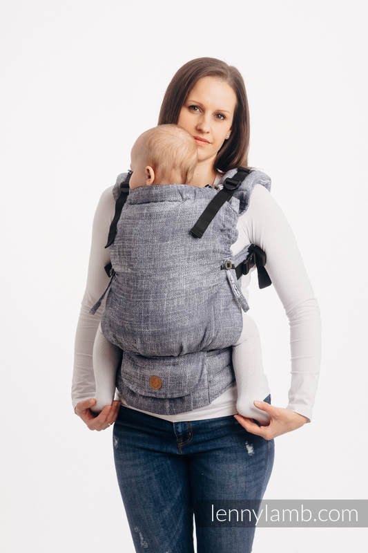 LennyUpGrade Carrier, Standard Size, jacquard weave 100% cotton - DENIM BLUE #babywearing