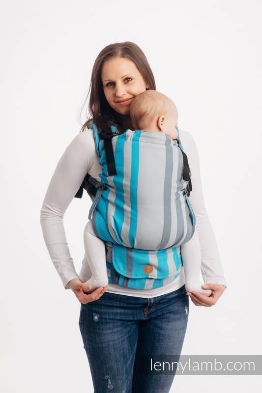 Nosidełko LennyUpGrade z tkaniny skośno-krzyżowej 100% bawełna , rozmiar standard - MGLISTY PORANEK #babywearing