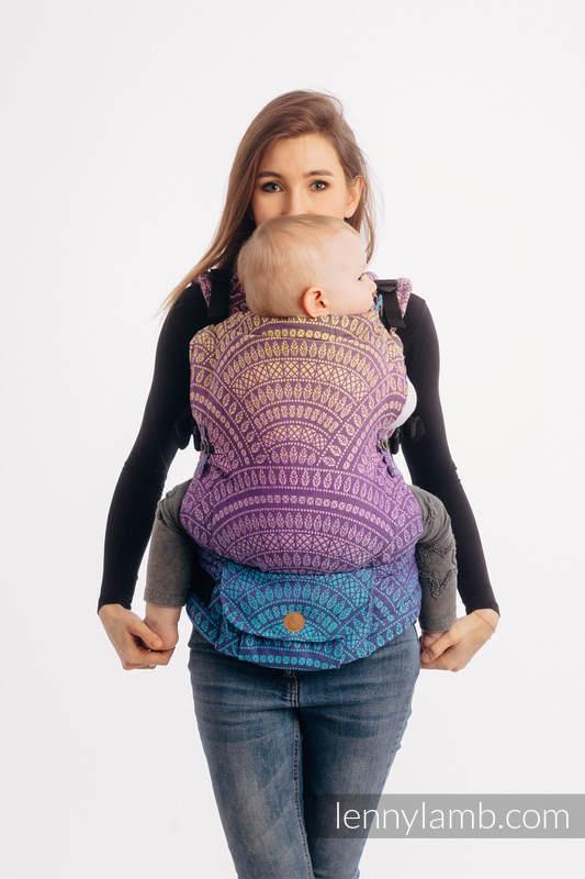 Nosidełko LennyUpGrade z tkaniny żakardowej 100% bawełna , rozmiar standard - PAWI OGON - W STRONĘ SŁOŃCA #babywearing