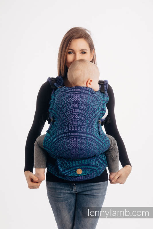 LennyUpGrade Carrier, Standard Size, jacquard weave 100% cotton - PEACOCK'S TAIL - PROVANCE #babywearing