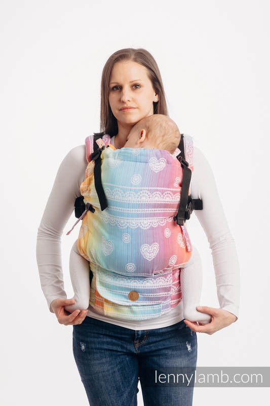 LennyUpGrade Carrier, Standard Size, jacquard weave 100% cotton - RAINBOW LACE #babywearing