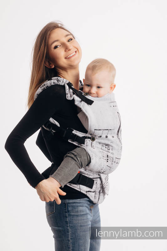 LennyUpGrade Carrier, Standard Size, jacquard weave 100% cotton - SYMPHONY CLASSIC #babywearing
