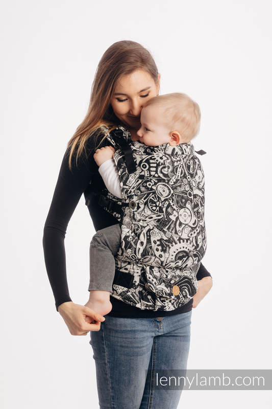 LennyUpGrade Carrier, Standard Size, jacquard weave 100% cotton - CLOCKWORK #babywearing