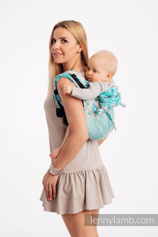 Lenny Buckle Onbuhimo, toddler size, jacquard weave 64% cotton, 36% silk - Wrap conversion from HORIZON'S VERGE - ATLANTIS #babywearing