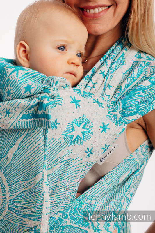 WRAP-TAI carrier Toddler with hood/ jacquard twill, 64% cotton, 36% silk - HORIZON'S VERGE - ATLANTIS #babywearing