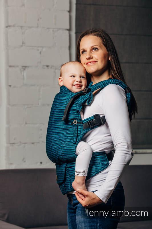 LennyUpGrade Carrier, Standard Size, tessera weave 100% cotton - BASIC LINE TANZANITE #babywearing