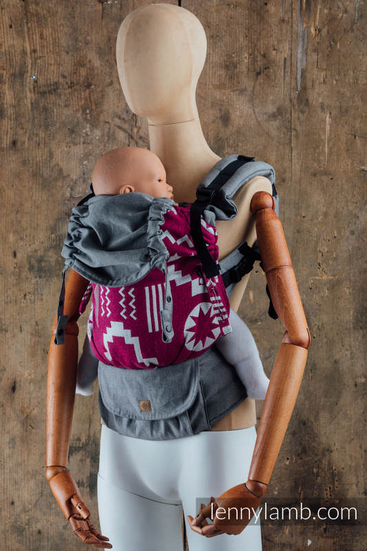 LennyUpGrade Carrier - CHOICE - EXPERIMENT no.12 - Standard Size, jacquard weave, (50%pearl, 27%noil silk, 23% combed cotton) #babywearing