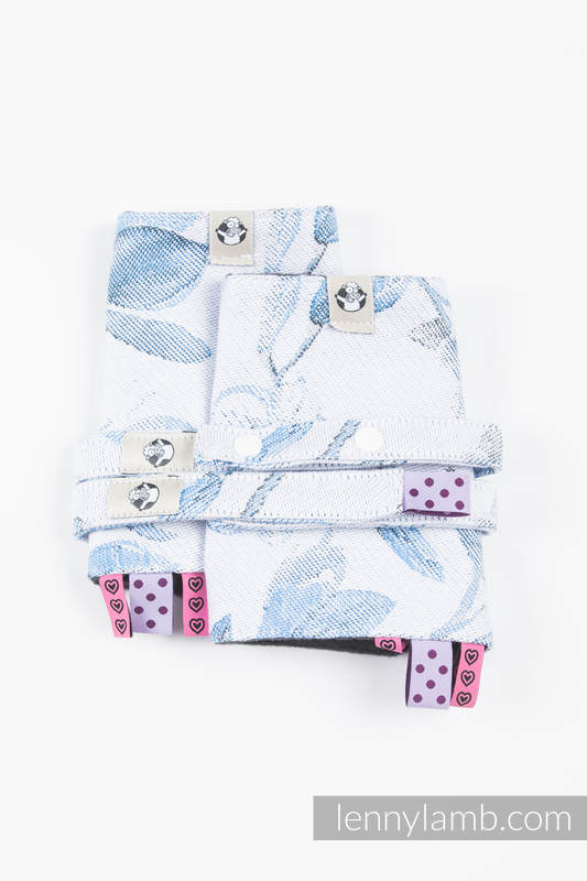 Drool Pads & Reach Straps Set, (60% cotton, 40% polyester) - MAGNOLIA BLUE OPAL #babywearing