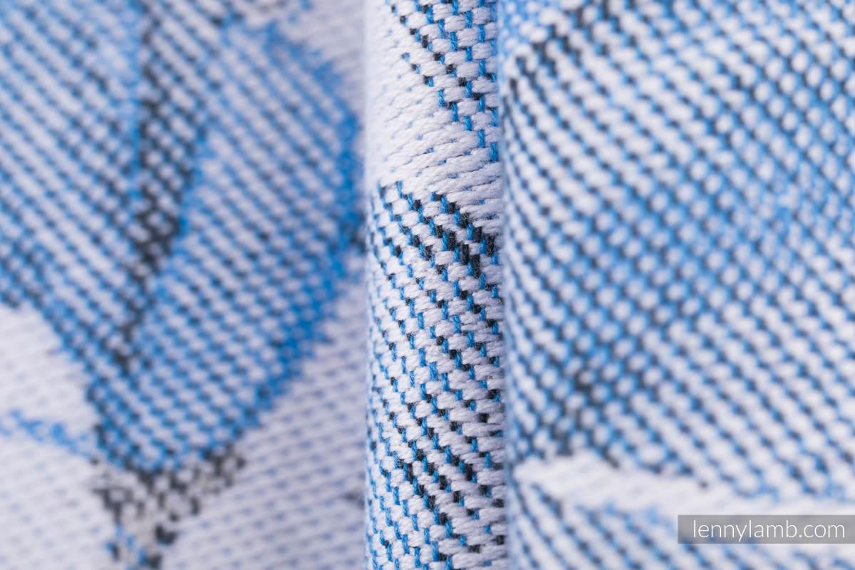Baby Wrap, Jacquard Weave (100% cotton) - MAGNOLIA BLUE OPAL - size XS #babywearing