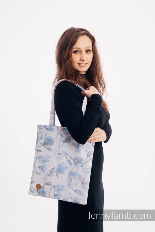Torba na zakupy z materiału chustowego, (100% bawełna) - MAGNOLIA BLUE OPAL #babywearing