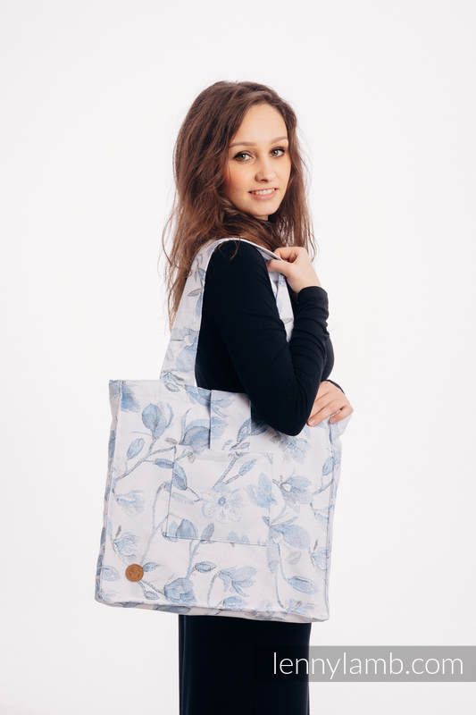 Shoulder bag made of wrap fabric (100% cotton) - MAGNOLIA BLUE OPAL - standard size 37cmx37cm #babywearing