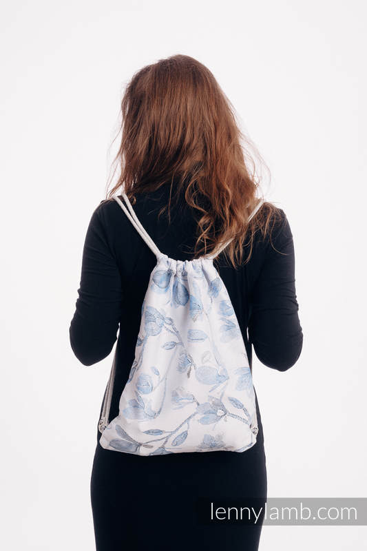 Sackpack made of wrap fabric (100% cotton) - MAGNOLIA BLUE OPAL - standard size 32cmx43cm #babywearing