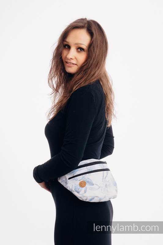 Waist Bag made of woven fabric, size large (100% cotton) - MAGNOLIA BLUE OPAL #babywearing