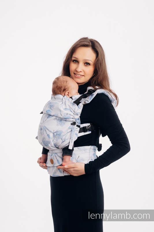 Mochila LennyUpGrade, talla estándar, tejido tessera 100% algodón - MAGNOLIA BLUE OPAL #babywearing
