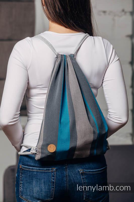 Sackpack made of wrap fabric (100% cotton) - SMOKY - IRIS - standard size 32cmx43cm #babywearing