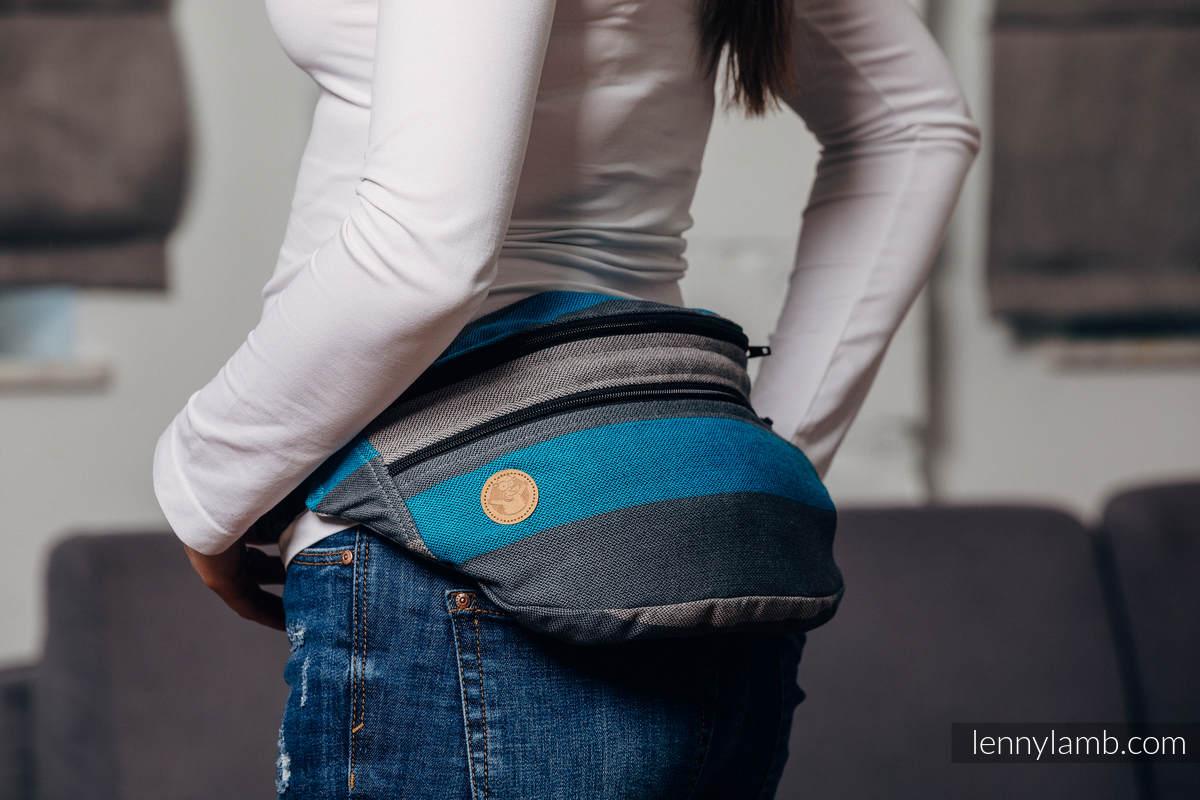 Riñonera hecha de tejido de fular, talla grande (100% algodón) - SMOKY - IRIS  #babywearing