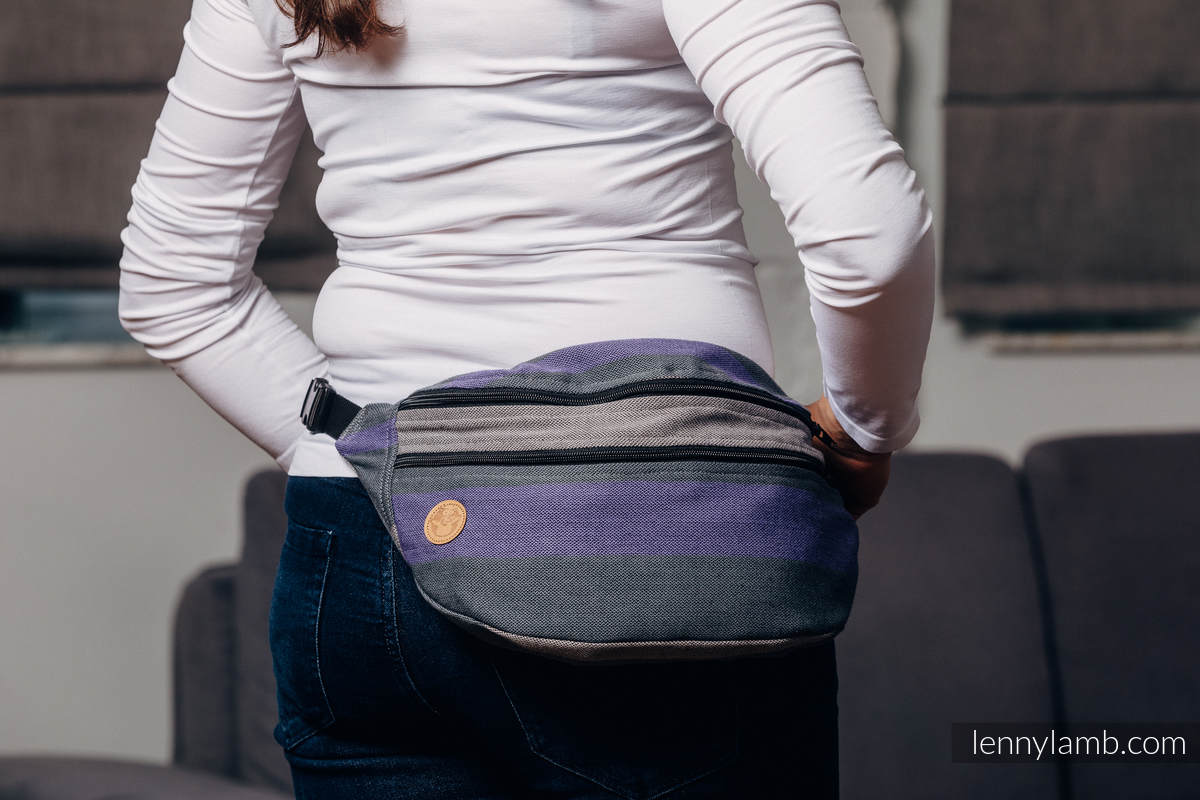 Waist Bag made of woven fabric, size large (100% cotton) - SMOKY - LILAC  #babywearing