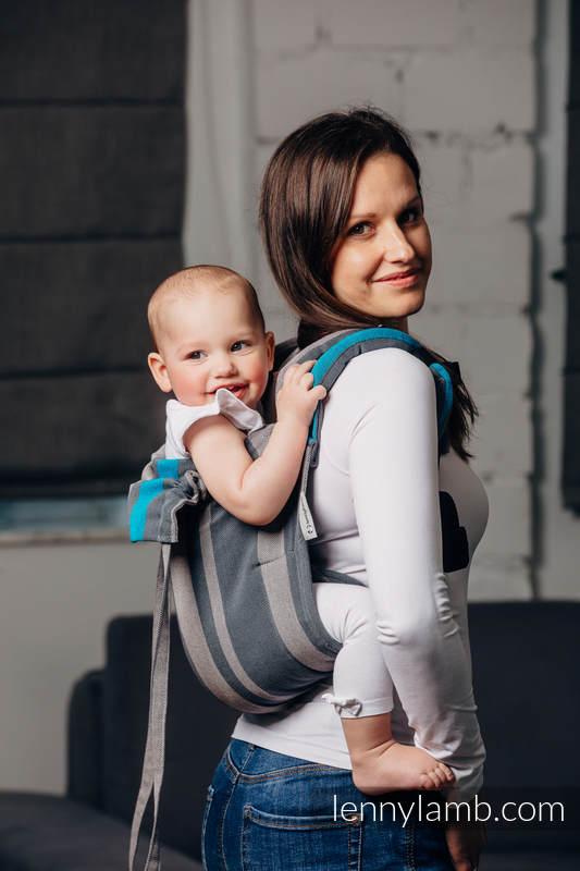 Onbuhimo SAD LennyLamb, talla estándar, sarga cruzada (100% algodón) - SMOKY - IRIS  #babywearing