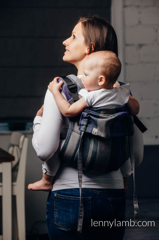 Lenny Buckle Onbuhimo Tragehilfe, Größe Standard, Kreuzköper-Bindung (100% Baumwolle) - SMOKY - LILAC  #babywearing