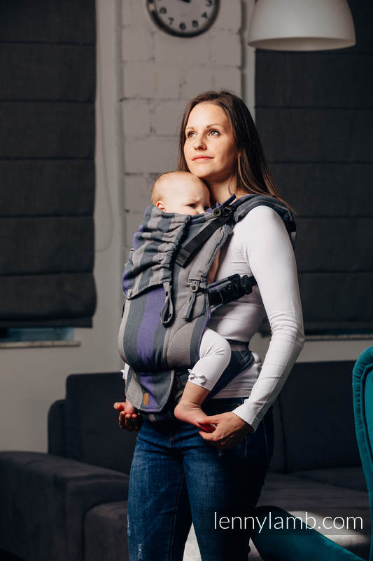 LennyUpGrade Carrier, Standard Size, broken-twill weave 100% cotton - SMOKY - LILAC  #babywearing