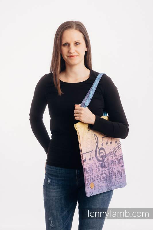 Bolsa de la compra hecho de tejido de fular (100% algodón) - SYMPHONY - PARADISE SUNRISE   #babywearing