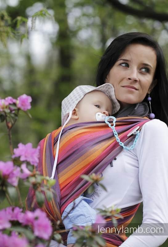 Baby Sling, Broken Twill Weave (bamboo + cotton) - Sunset Rainbow - size L #babywearing