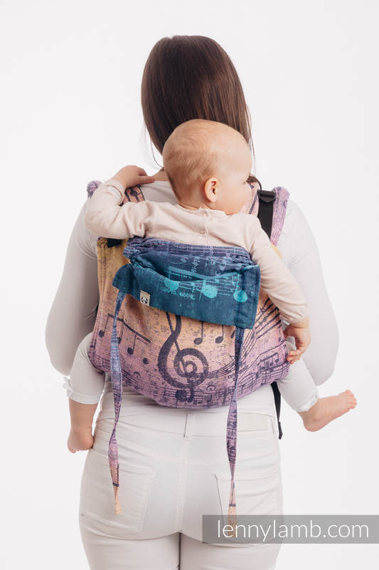 Lenny Buckle Onbuhimo, standard size, jacquard weave (100% cotton) - SYMPHONY  - PARADISE SUNRISE   #babywearing