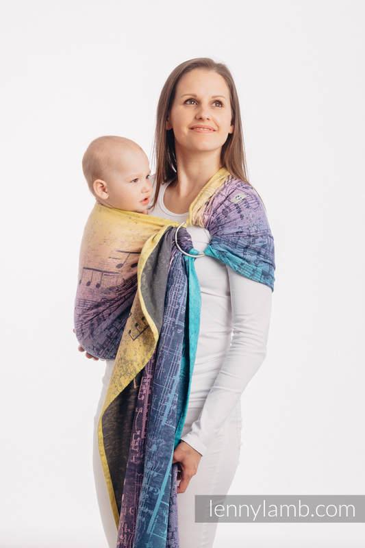 Ringsling, Jacquard Weave (100% cotton) - with gathered shoulder - SYMPHONY  - PARADISE SUNRISE  - standard 1.8m #babywearing