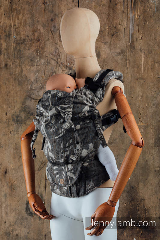 LennyUpGrade Carrier, Standard Size, jacquard weave,  (48% aloe, 26% tussah silk, 26% combed cotton) - EXPERIMENT 22 #babywearing