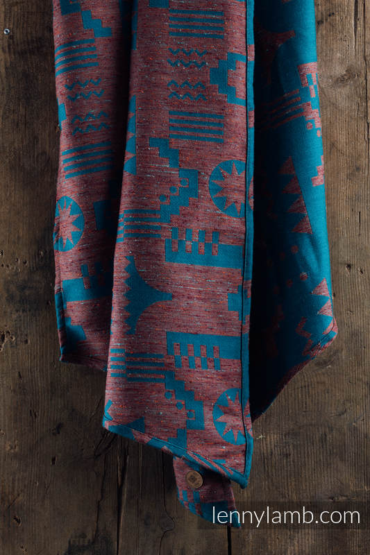 Baby Wrap, Jacquard Weave, (44% tussah silk, 31% combed cotton, 21% merino wool, 4% cashmere) - EXPERIMENT no.5 - size XS #babywearing