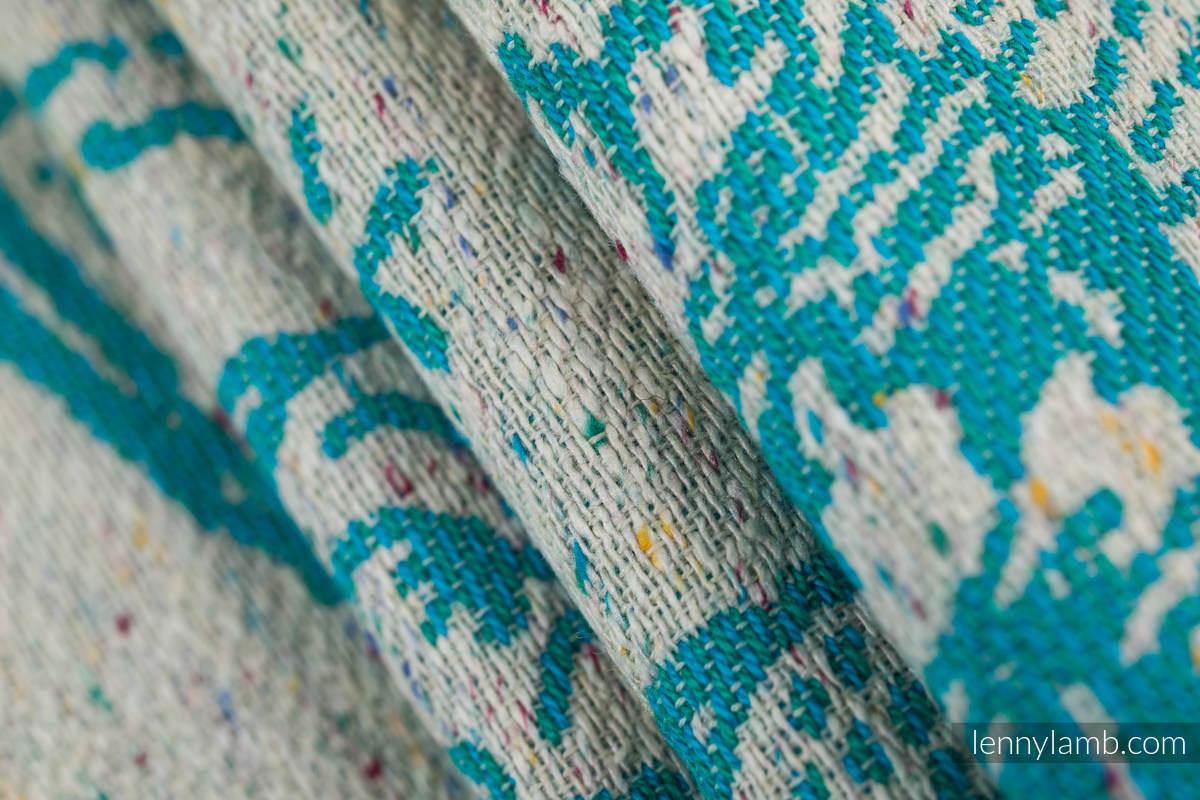 Baby Wrap, Jacquard Weave 64% cotton, 36% silk - HORIZON'S VERGE - ATLANTIS - size XL #babywearing