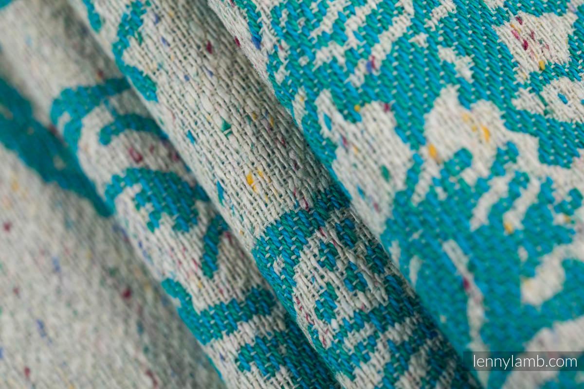 Baby Wrap, Jacquard Weave 64% cotton, 36% silk - HORIZON'S VERGE - ATLANTIS - size L #babywearing