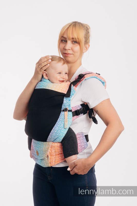 LennyUpGrade Mesh-Tragehilfe, Größe Standard, Jacquardwebung, 75% Baumwolle, 25% Poliester  - BIG LOVE RAINBOW #babywearing