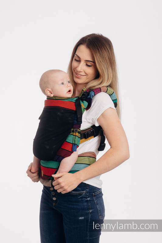 LennyUpGrade Mesh Carrier, Standard Size, broken-twill weave (75% cotton, 25% polyester) - CAROUSEL OF COLORS #babywearing