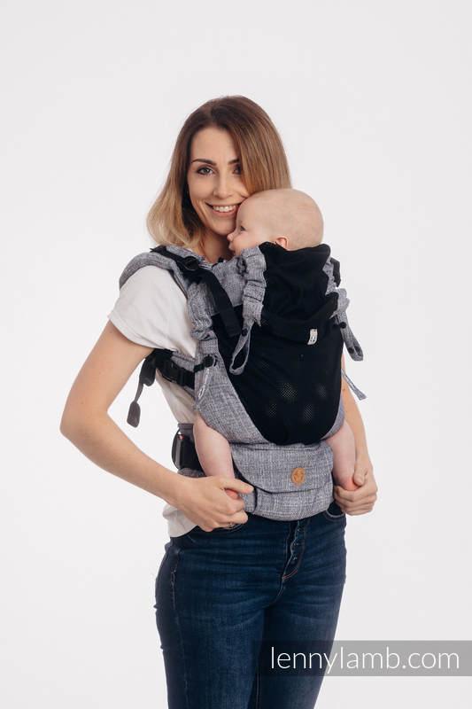 LennyUpGrade Mesh Carrier, Standard Size, jacquard weave (75% cotton, 25% polyester) - DENIM BLUE #babywearing