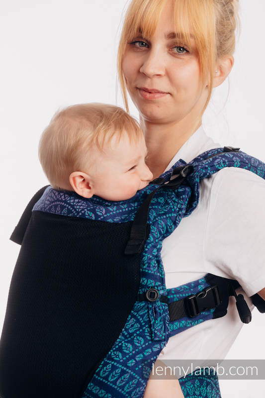 LennyUpGrade Mesh Carrier, Standard Size, jacquard weave (75% cotton, 25% polyester) - PEACOCK'S TAIL PROVANCE #babywearing