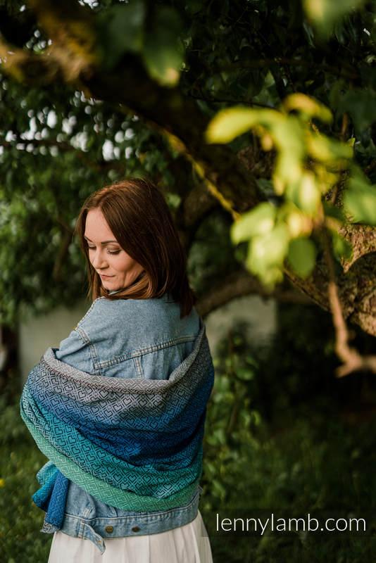 Schal von Tragetuchgewebe (100% Baumwolle) - BIG LOVE ATMOSPHERE #babywearing