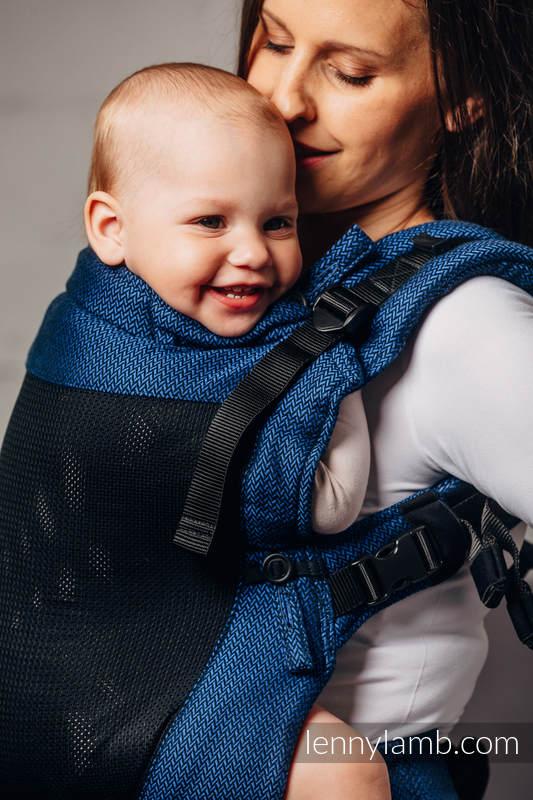 Mochila portabebé LennyUpGrade de malla, talla estándar, tejido Herringbone, (75% algodón, 25% poliéster) - BASIC LINE COBALT #babywearing