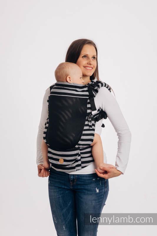 LennyUpGrade Mesh-Tragehilfe, Größe Standard, Kreuzköper-Bindung, 75% Baumwolle, 25% Poliester  - LIGHT AND SHADOW #babywearing