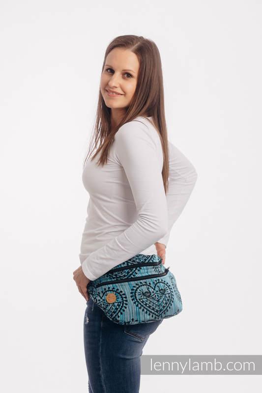 Riñonera hecha de tejido de fular, talla grande (100% algodón) - FOLK HEARTS - MIDSUMMER NIGHT #babywearing