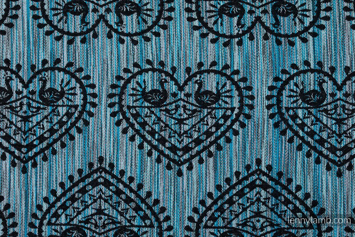 Tragetuch, Jacquardwebung (100% Baumwolle) - FOLK HEARTS - MIDSUMMER NIGHT - Größe M #babywearing