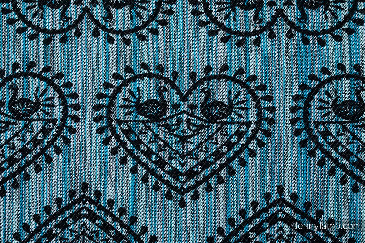 Żakardowa chusta do noszenia dzieci, 100% bawełna - FOLKOWE SERCA - NOC ŚWIĘTOJAŃSKA - rozmiar S #babywearing