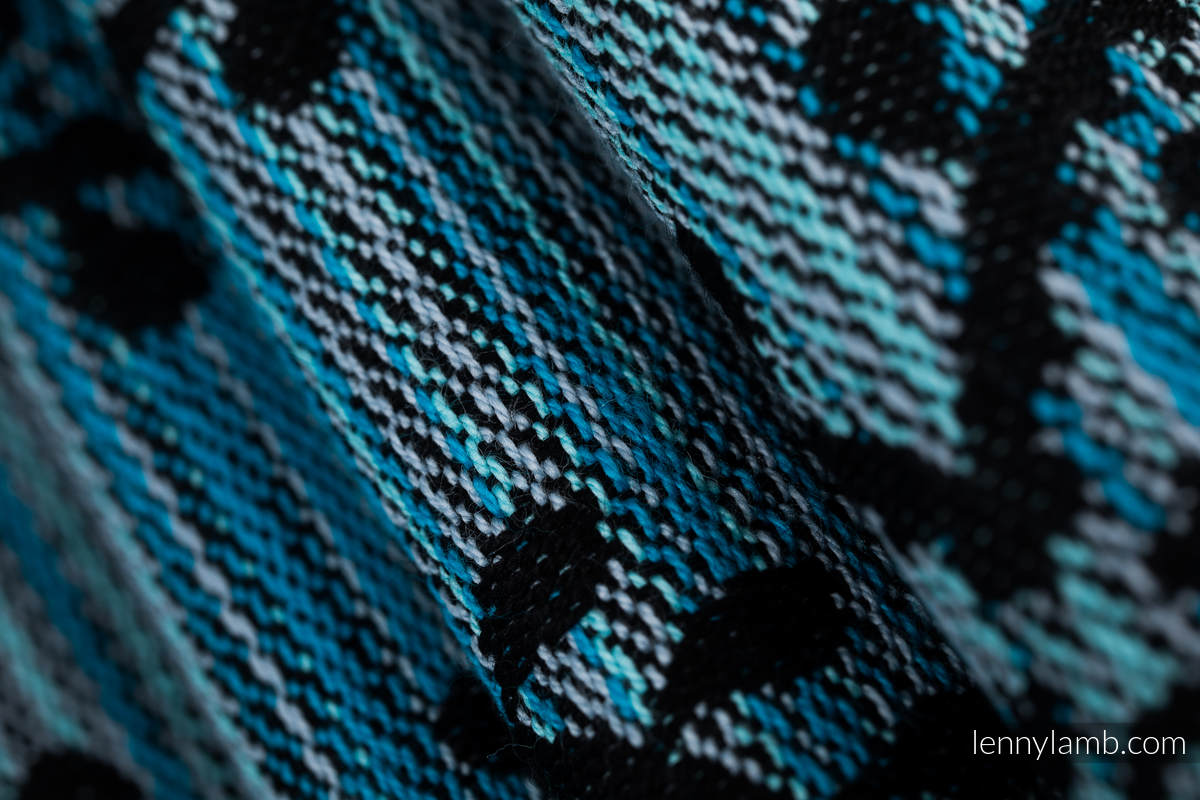 Écharpe, jacquard (100% coton) - FOLK HEARTS - MIDSUMMER NIGHT - taille L #babywearing