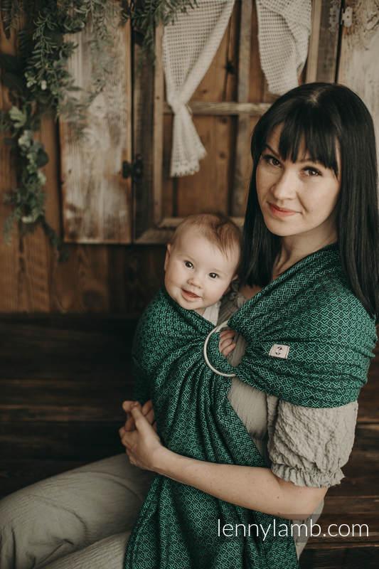 Ringsling, Jacquard Weave (100% cotton) - with gathered shoulder -  NOVA - LittleLove EMILIA - standard 1.8m #babywearing