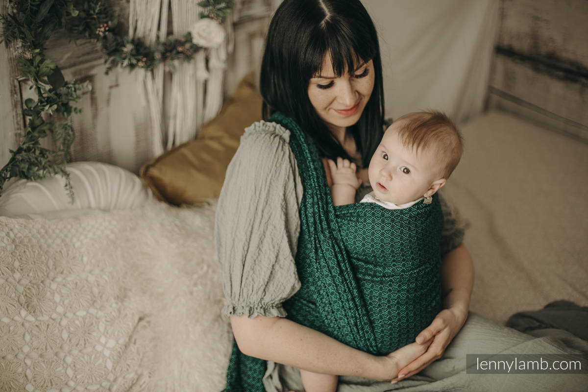 Baby Wrap, Jacquard Weave (100% cotton) - NOVA - LittleLove EMILIA - size XS #babywearing