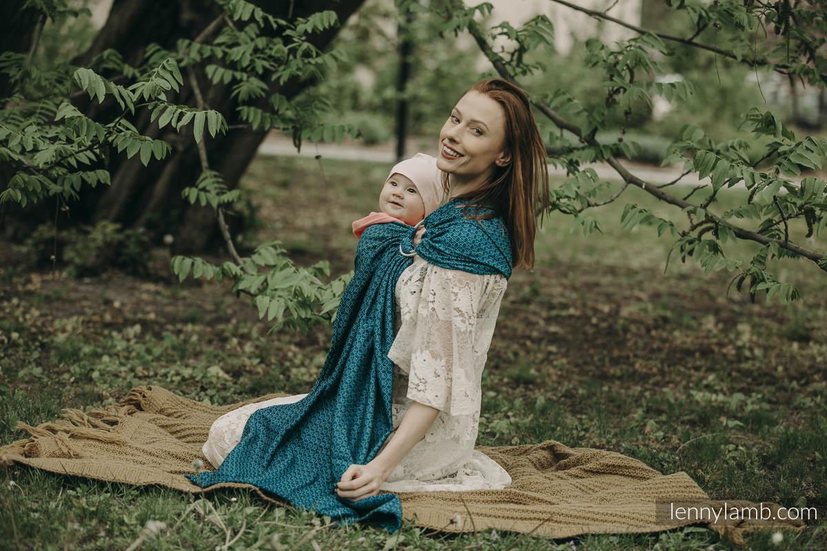 Ringsling, Jacquard Weave (100% cotton) - with gathered shoulder -  NOVA - LittleLove KRZYŚ - long 2.1m #babywearing