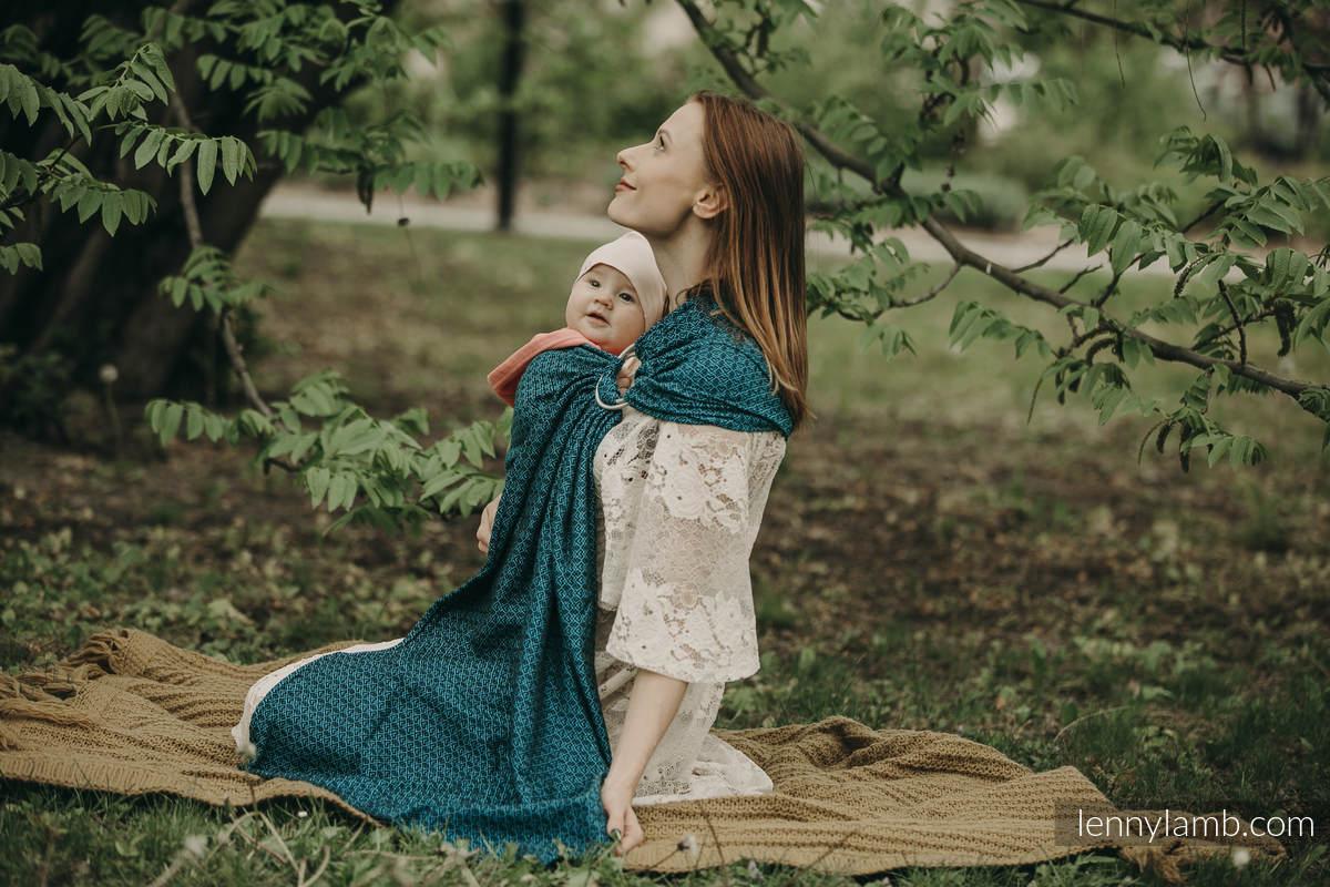 Ringsling, Jacquard Weave (100% cotton) - NOVA - LittleLove KRZYŚ - long 2.1m #babywearing